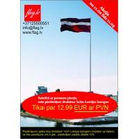 Drukāts Latvijas karogs 1x2m
