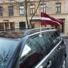 Latvijas auto karogs 50x25 cm ar statīvu (karodziņš automašīnai)