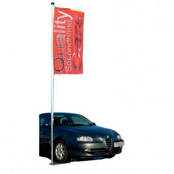 "Teleskopiskais karogu masts ""Car Wheel"""