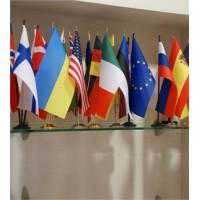 Jebkuras valsts galda karogs 28x14 cm