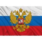Krievijas karogs ar ģerboni 150x100 cm